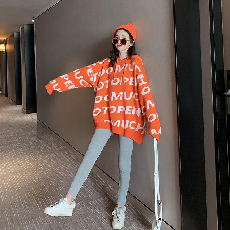 橘色毛衣女宽松韩版很仙的慵懒风2019年秋装新款春装初秋上衣外穿