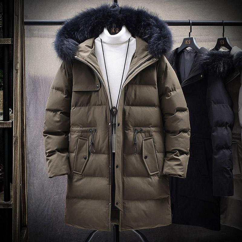 冬裝新款棉衣男士冬季加厚棉襖外套中長款連帽羽絨棉服潮牌