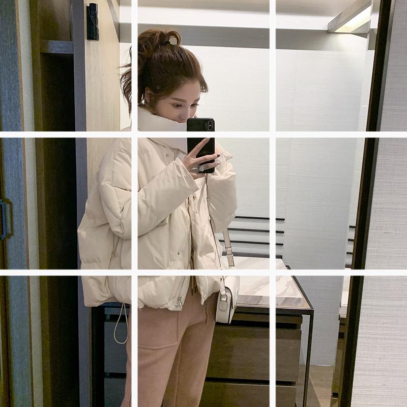10.28新品 0点上新韩版宽松立领小个子抽绳短款面包服