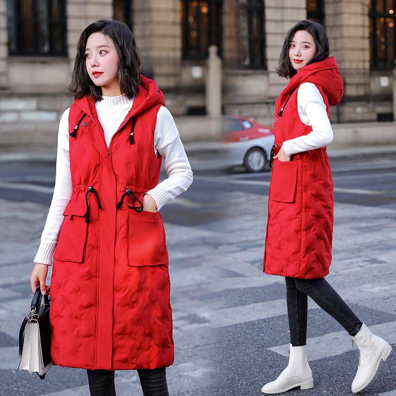 實拍新款韓版寬松大碼棉衣馬夾中長款女裝胖mm棉服外套冬季棉襖潮