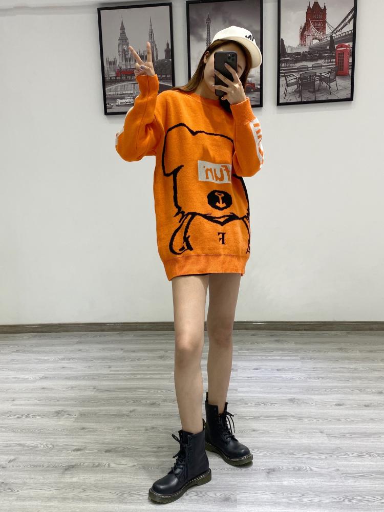寬松慵懶風毛衣中長款2019秋冬時尚韓版外穿女上衣