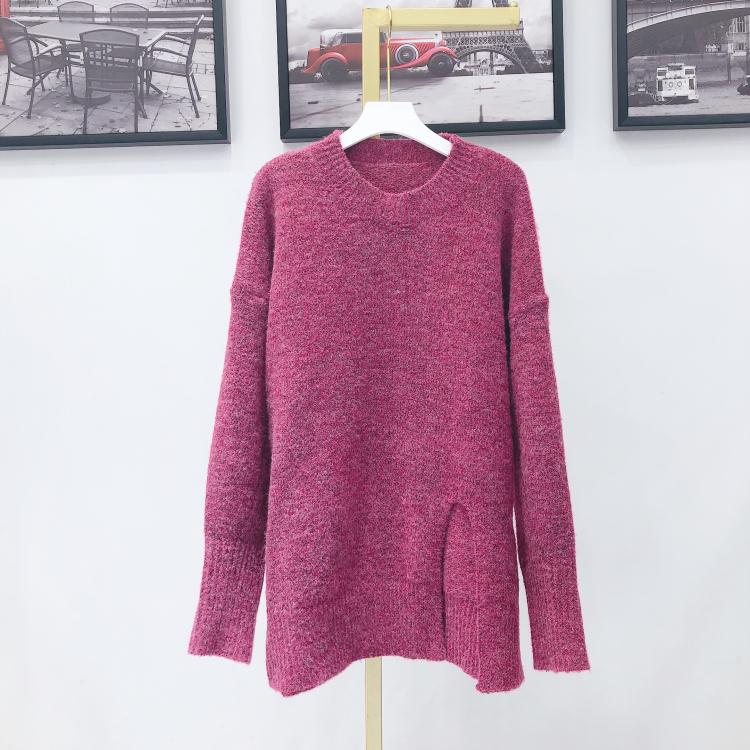 林珊珊新款開叉毛針織衫毛衣