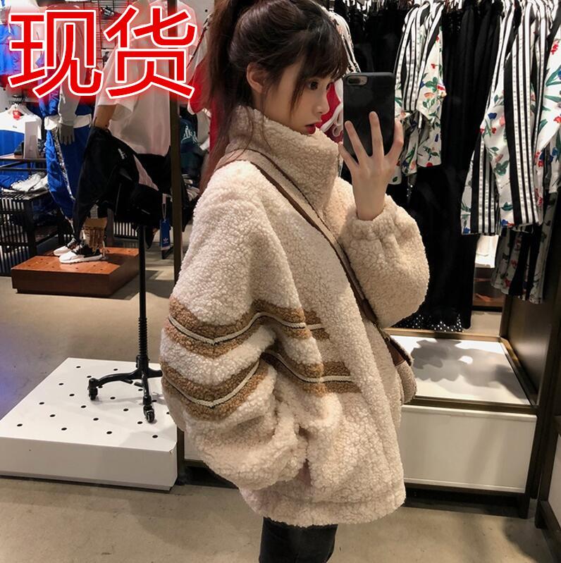 羊羔絨毛衛衣女寬松bf慵懶風2019秋冬新款韓版學生加厚外套ins潮