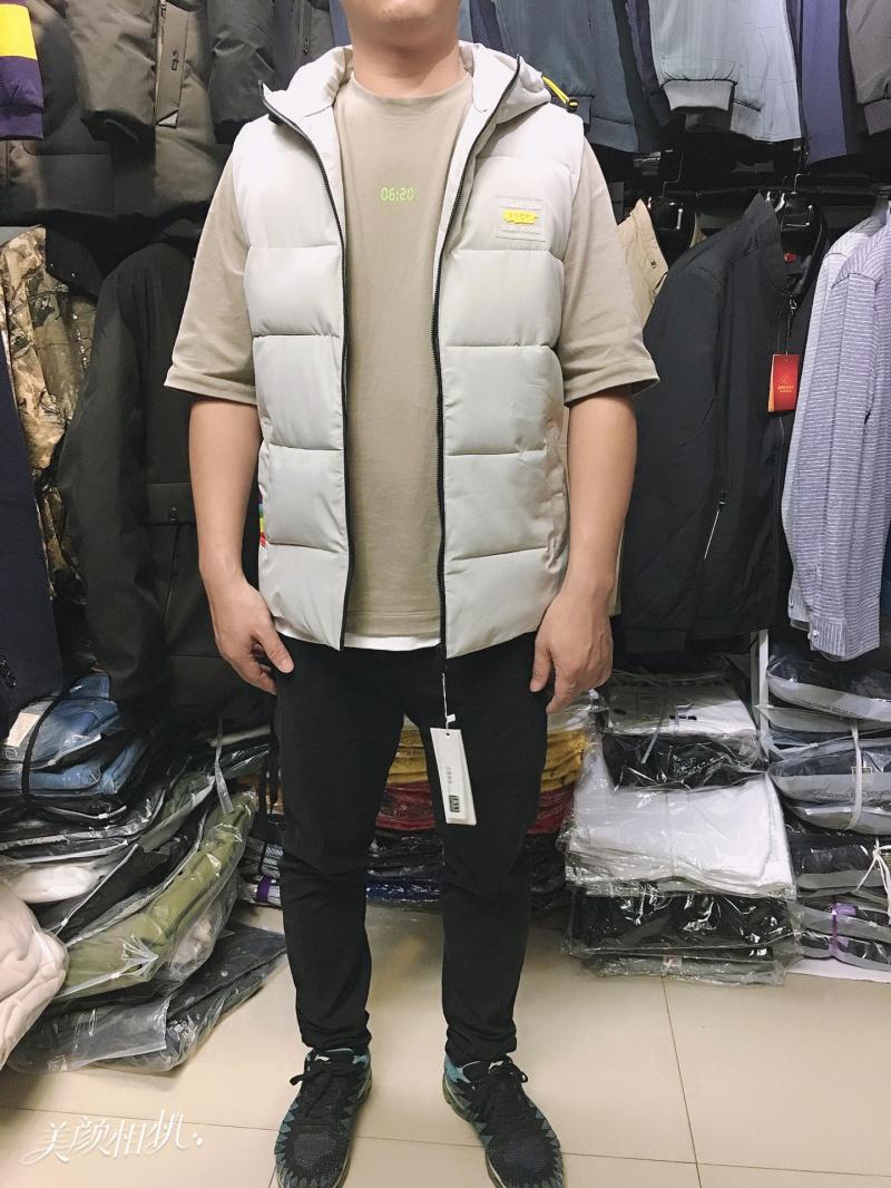 亚博娱乐平台入口棉马甲男韩版休闲潮流纯色冬装棉衣背心坎肩保暖马夹外套