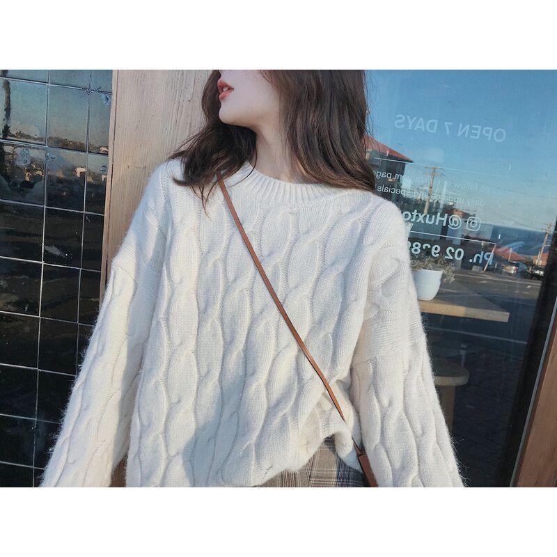 ,2019秋季新款韓版小個子時尚套裝女網紅針織毛衣格紋半身裙兩件套