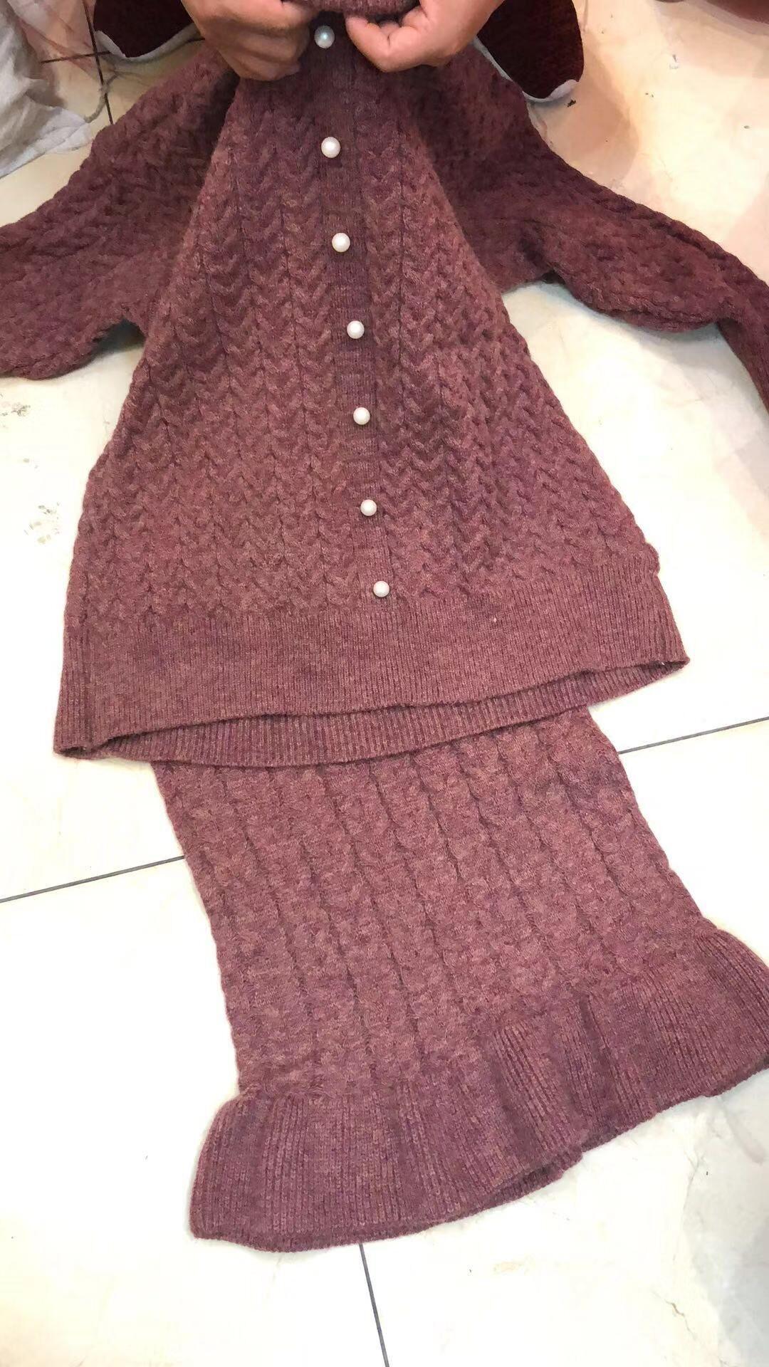 11.3新品 0点上新韩版宽松麻花套头毛衣半身裙两件套