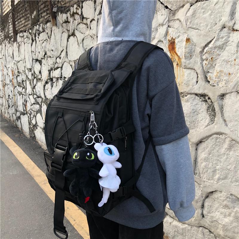 不減男ins潮酷原宿風簡約雙肩包 運動登山大容量旅行包女韓版背包