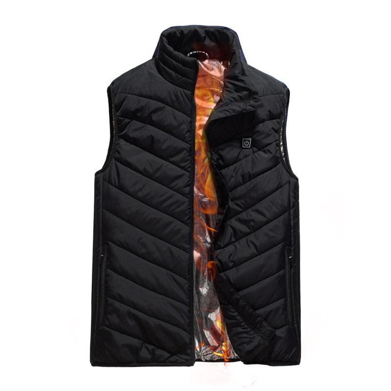 智能充电加热马甲男士坎肩外套冬季充电宝发热衣电热无袖保暖背心