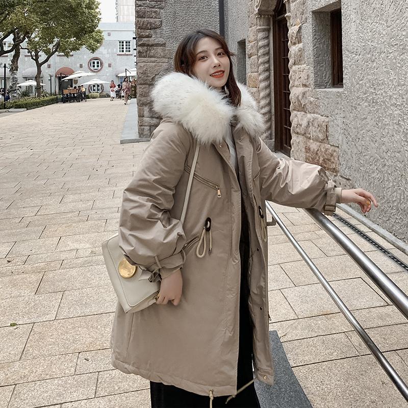 亚博娱乐平台入口现货控价248元 东大门同款棉服中长款学生棉衣外套加厚大衣女