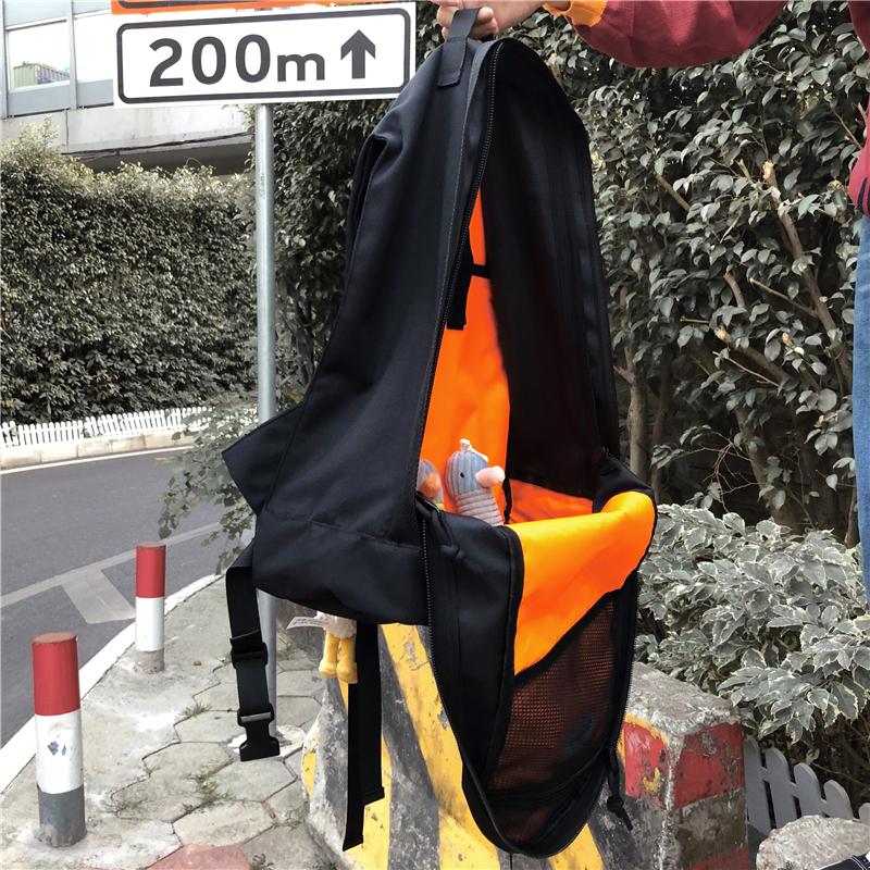 實價不減工裝書包戰術暗黑雙肩包情侶潮牌街頭歐美機能風背包