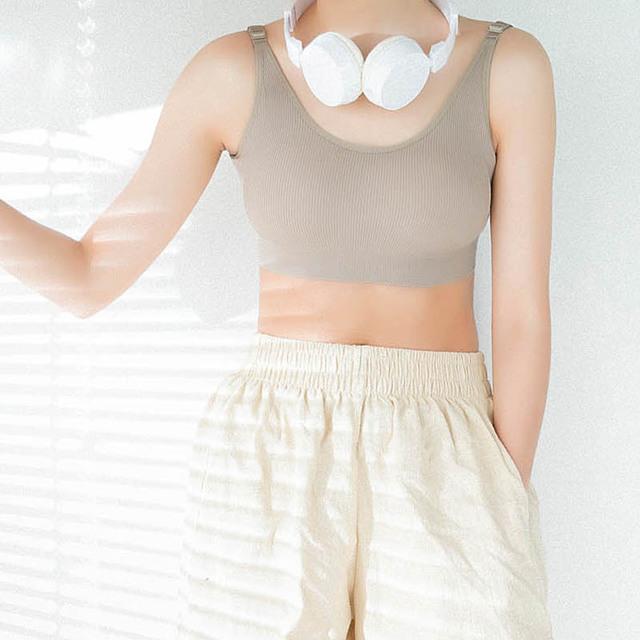 秋冬新款運動內衣少女生文胸聚攏無鋼圈背心式純棉瑜伽跑步胸罩