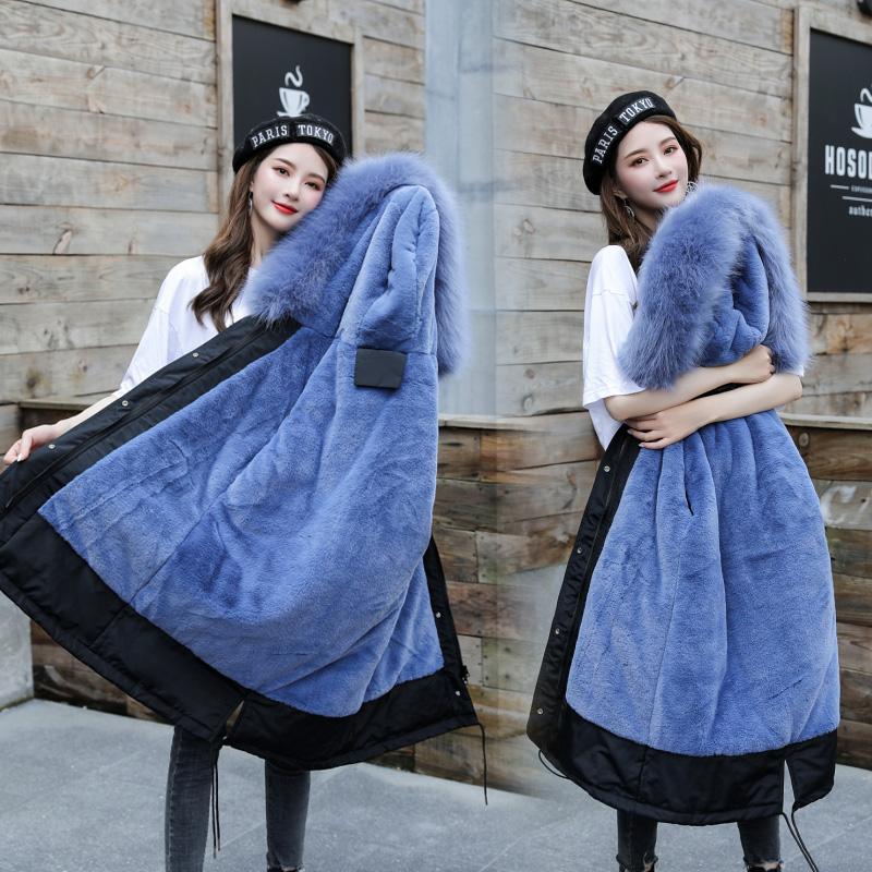 實拍M-6XL 新款韓版寬松大碼棉衣派克服中長款女裝胖mm棉服外套冬