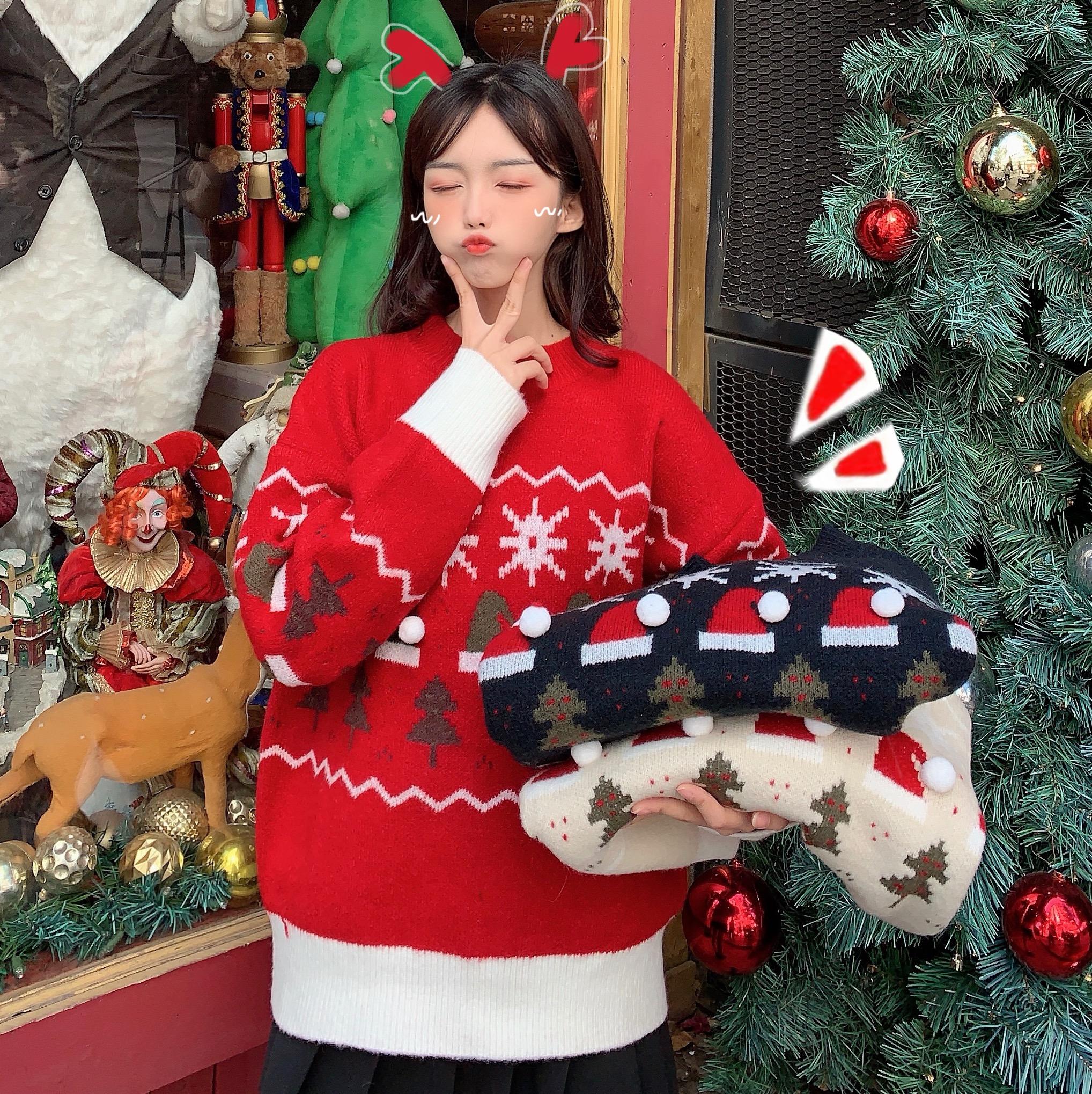 實拍質檢 秋冬新款韓版慵懶風寬松百搭針織衫毛衣