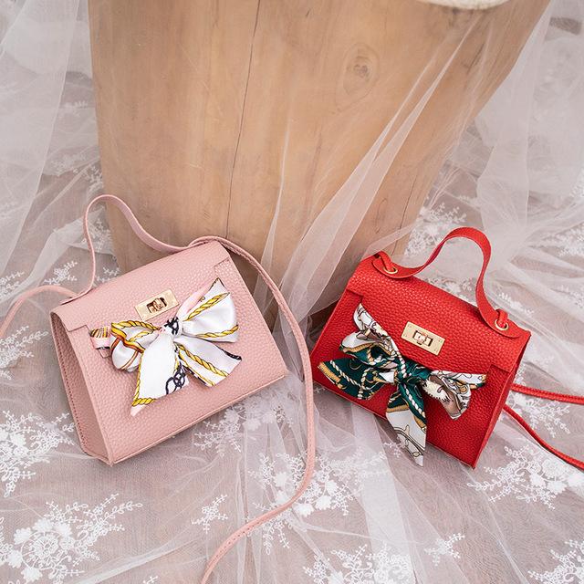 韩版时尚凯莉包爆款女包2020新款锁扣荔枝纹女包单肩斜跨包丝巾包