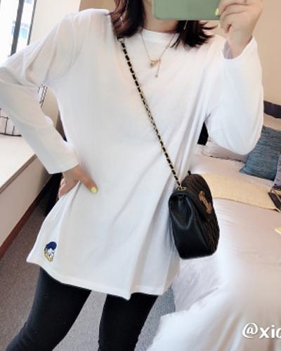 2020新款女装韩版时尚ins潮宽松内搭洋气长袖t恤打底衫上衣服