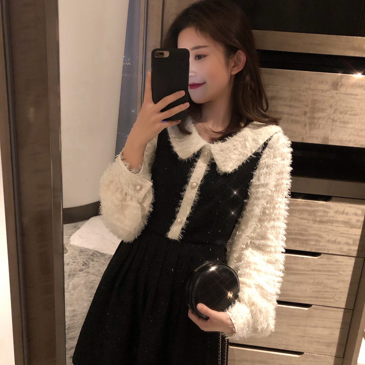 2020春季新款夏羽毛 流蘇chic溫柔裙子仙女超仙甜美氣質連衣裙
