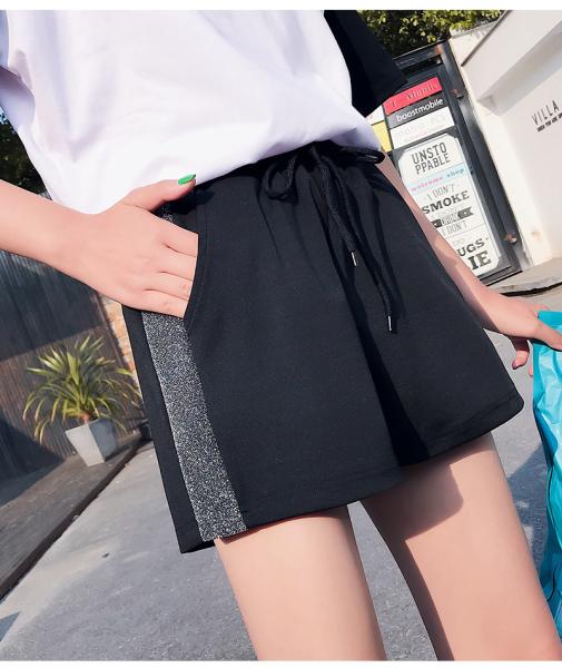 KTY12466#韩版显瘦阔腿运动短裤夏季高腰百搭学生休闲热裤原版质量