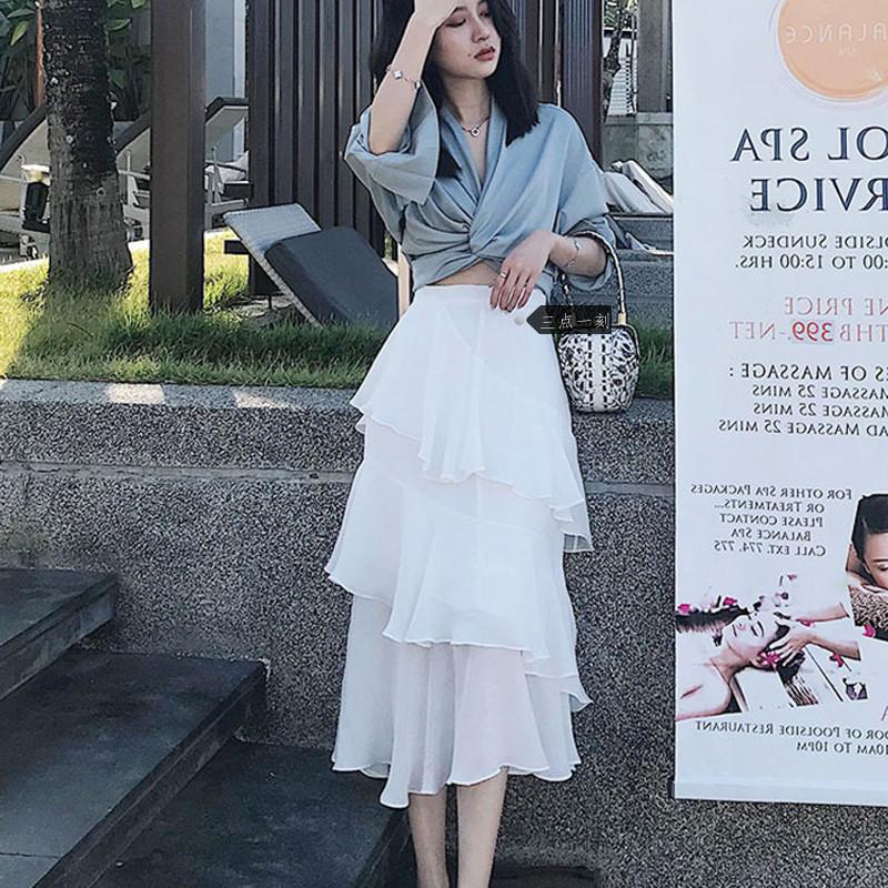 沙灘裙2020新款超仙普吉島海邊度假裙子仙女森系兩件套半身裙套裝