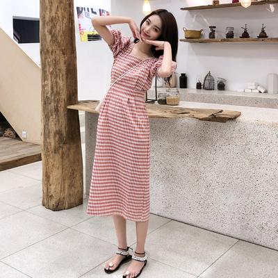 2020年新款女裝夏季超仙女桔梗長裙法式復古森系春秋連衣裙子夏季