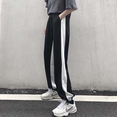 实拍2021运动裤女...