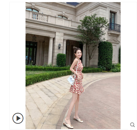 紅色波點雪紡連衣裙2020新款夏中長款氣質收腰顯瘦小個子無袖裙子