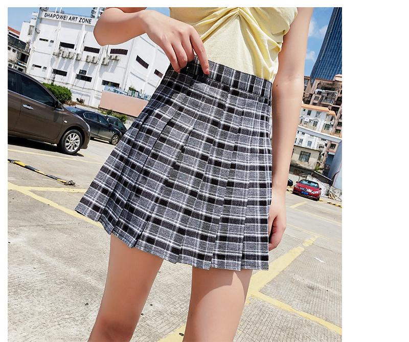 2020春夏新款學生高腰半身裙ulzzang百褶裙chic短裙褲裙裙子女