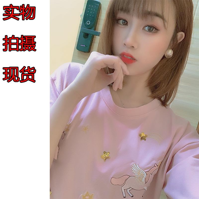 網紅短袖t恤女夏2020新款韓版寬松白色內搭打底衫學生百搭上衣潮