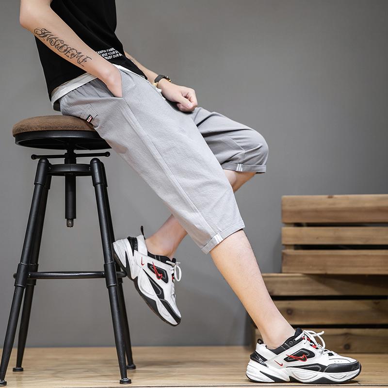 夏季薄款男士純棉短褲男直筒寬松中褲五分褲5分七分7分裝夏天馬褲
