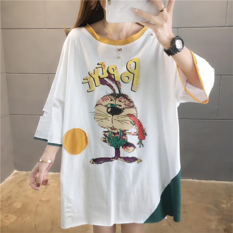 實拍夏款百分百純棉好質量韓版寬松短袖t恤女網紅同款