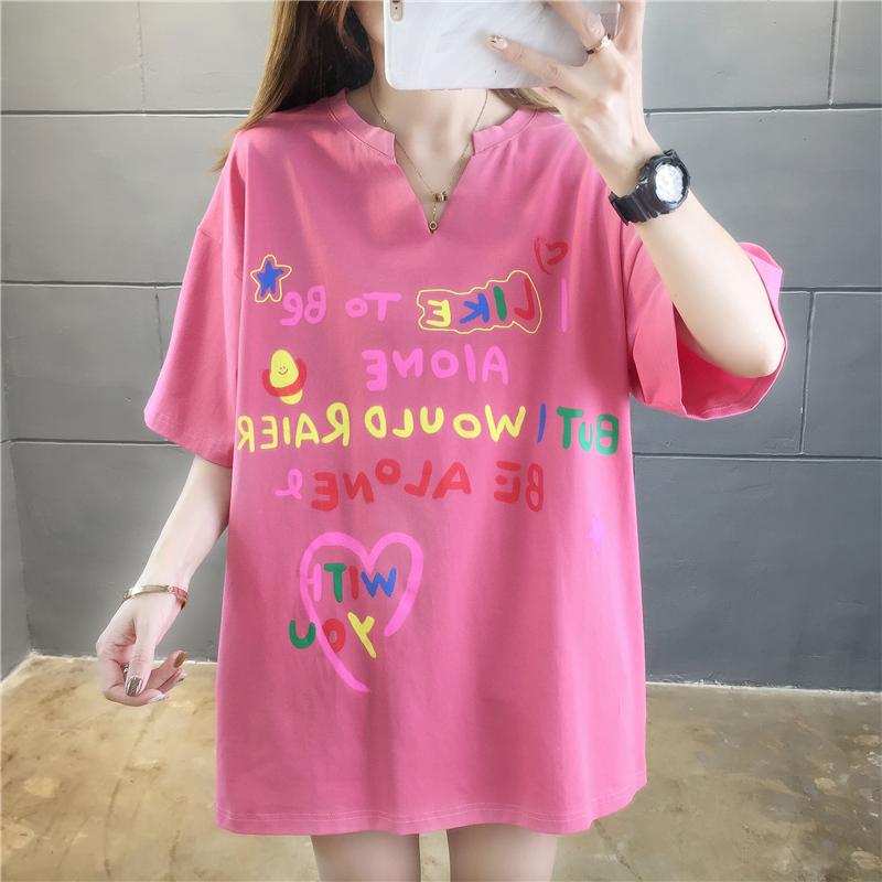 實拍2020夏款好質量不下架韓版棉質寬松短袖休閑t恤女網紅同款