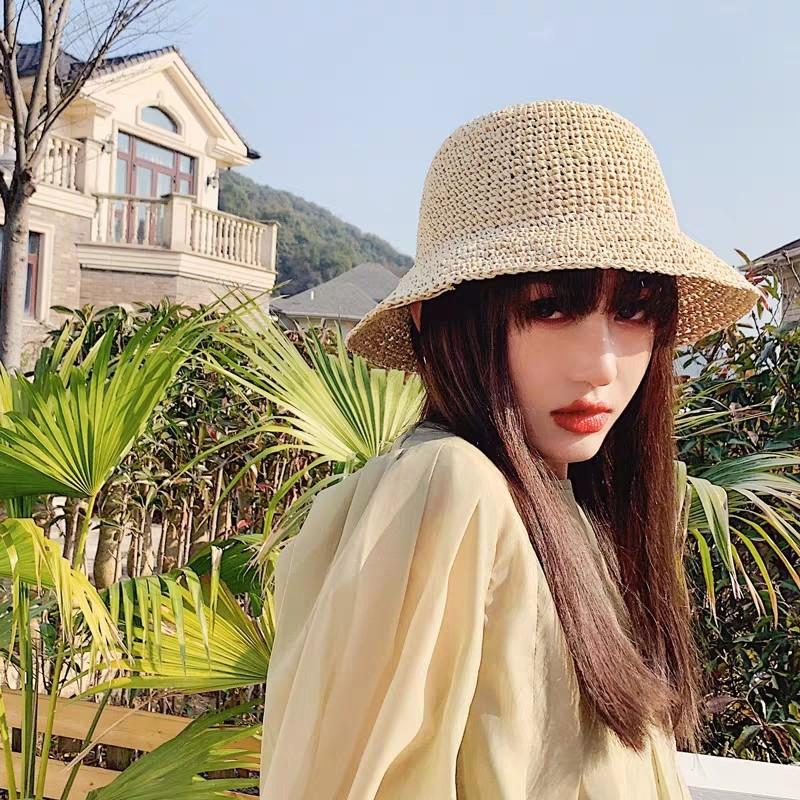 韓版復古赫本帽子女夏小清新網紅大檐度假海邊沙灘草帽防曬遮陽帽