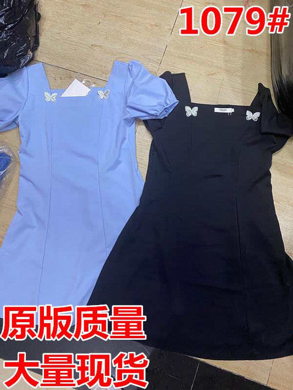 提前加購 6月1號10點上新復古方領立體蝴蝶結連衣裙Q6117