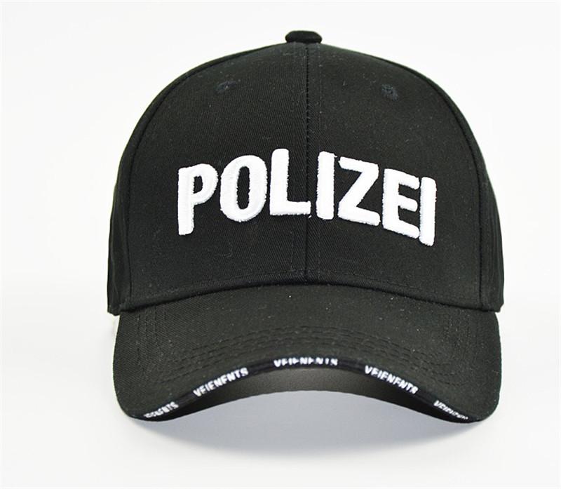 韓國東大門新款 POLIZEI字母鴨舌帽