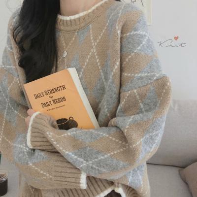 慵懒风套头毛衣女冬2020新款宽松韩版学生很仙的洋气上衣网红加厚