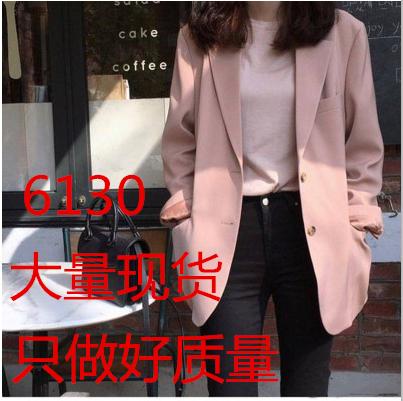 2020网红小西装外套女韩版英伦风设计感小众上衣小个子粉色女西服