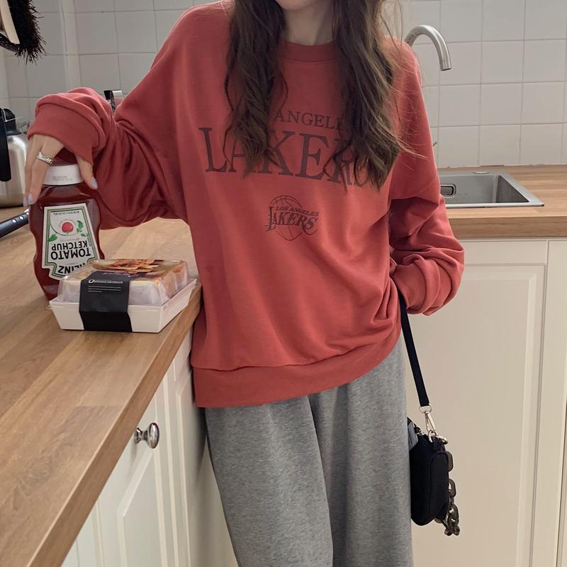 릴래빗 박시핏 공항패션 라운드넥  프린팅 플라워 롱 소매 여성 재킷  생수 긴팔 여성의류