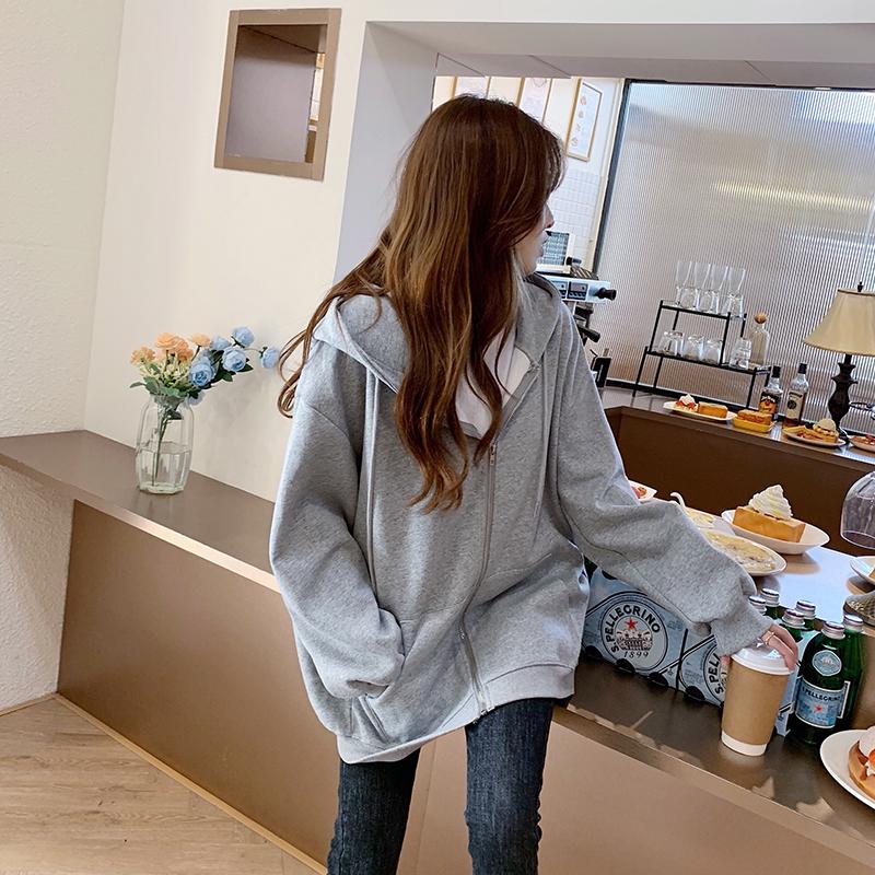 겨울 가을 겨울 코디룩  캐쥬얼 카디건 박시핏 공항패션 재킷 셔츠  사케 긴팔 여성의류