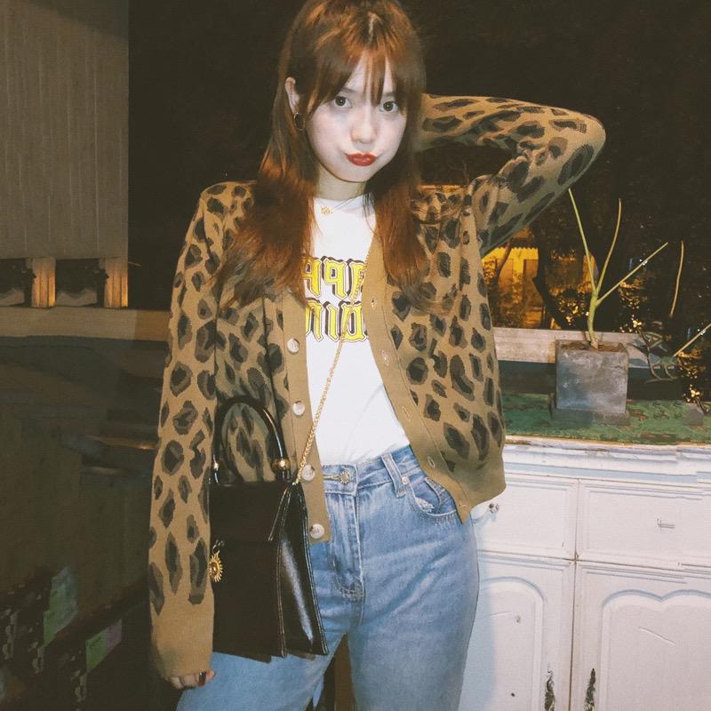 春秋針織外套女韓版寬松小披肩短款百搭洋氣復古豹紋毛衣開衫薄款