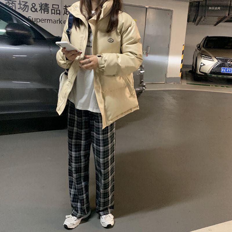 빅사이즈 여성용 패딩 점퍼 재킷 여성용 오버핏 bfPU차이나카라 기모