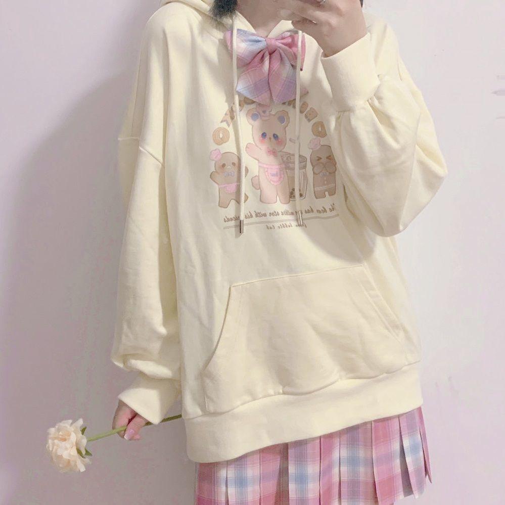 에이프릴래빗 양털 겨울 오버핏 후드티셔츠 여성용 재킷  OC08
