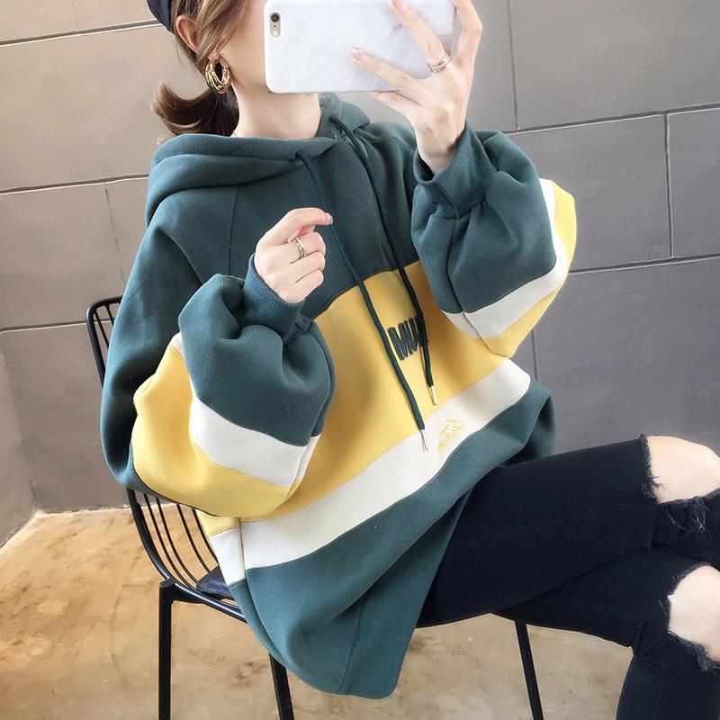 에이프릴래빗 양털 겨울 신상품 pphome여성용 오버핏 기모 롱 재킷 상의  OC08