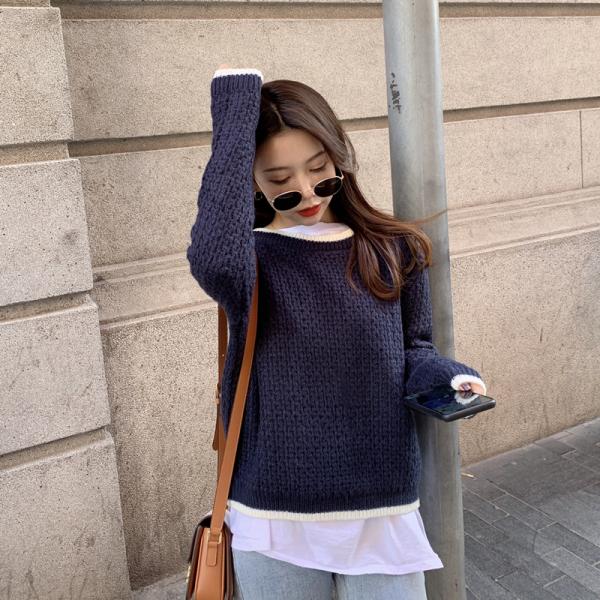 KTY12394#韩国冬季潮流女装针织毛衣外套上衣加厚
