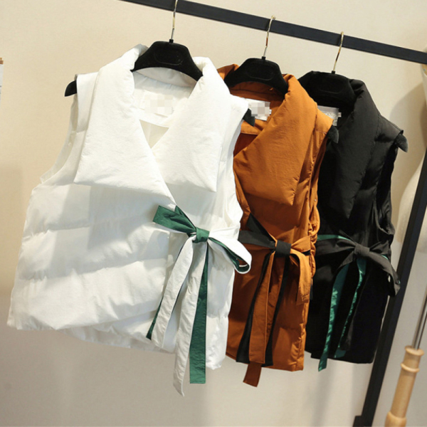KTY12626#羽绒棉马甲女短款韩版宽松坎肩外穿马夹外套