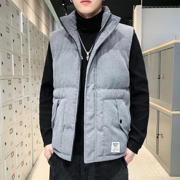 TS47914#马甲男士羽绒棉上衣服潮流背心新款春秋冬季大码男装坎肩外套