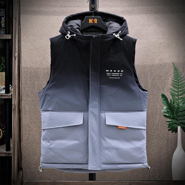 TS47911#马甲男士羽绒棉马夹潮流背心新款秋冬季保暖外穿工装坎肩外套