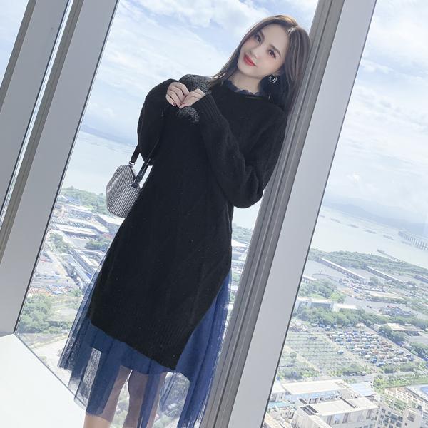 TS48862#秋冬套装新款女轻熟风洋气减龄针织两件套名媛气质秋款女装