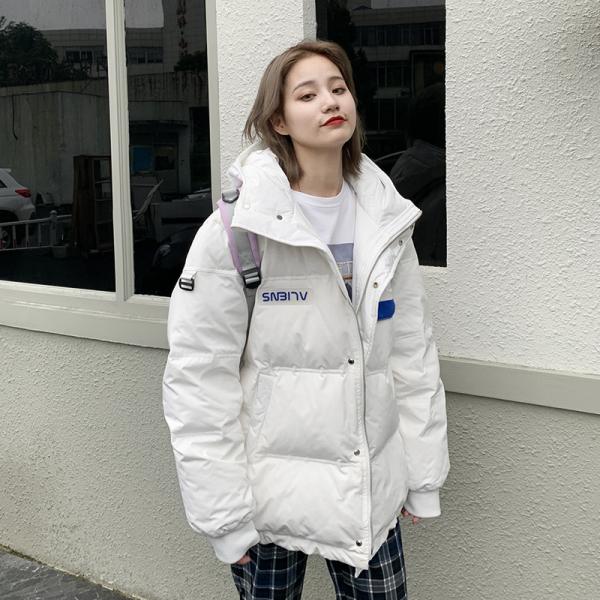 TS54027#工装羽绒棉服中长款小个子冬季新款韩版宽松加厚派克服外套