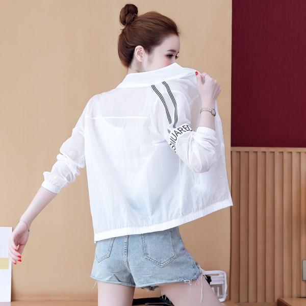 RS08#休闲小短外套女士新薄款洋气长袖白色上衣时尚百搭开衫