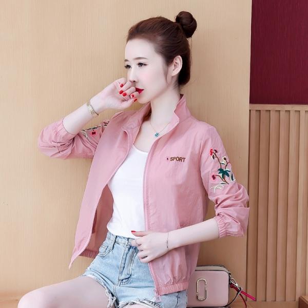 RS09#夏季长袖防晒衣女士新款网红洋气衣服开衫薄款百搭外套
