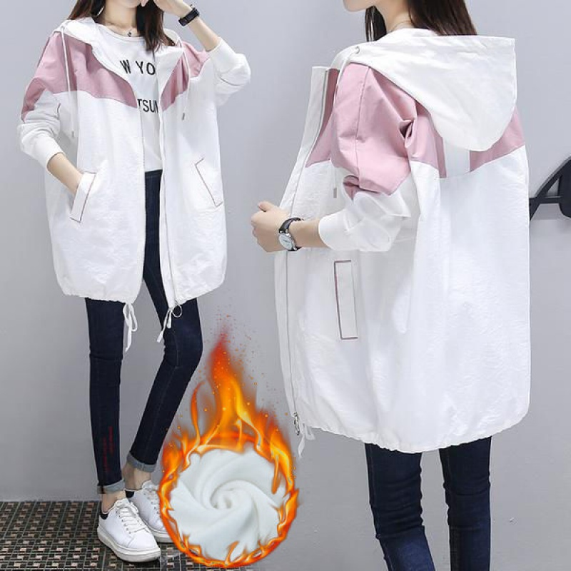 2020春秋新款韓版寬松中長款大碼微胖MM200斤百搭風衣學生外套女
